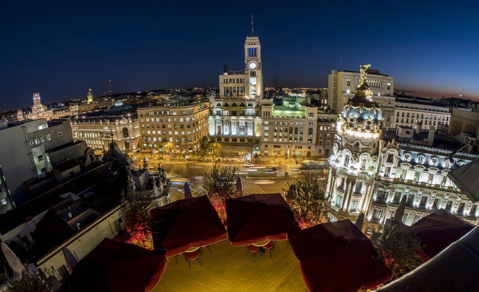Madrid desde el cielo visita madriz for Terrazas nocturnas madrid